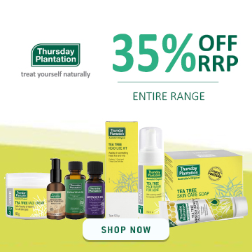 Thursday Plantation - 35% Off RRP