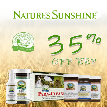 Nature's Sunshine - 35% Off RRP