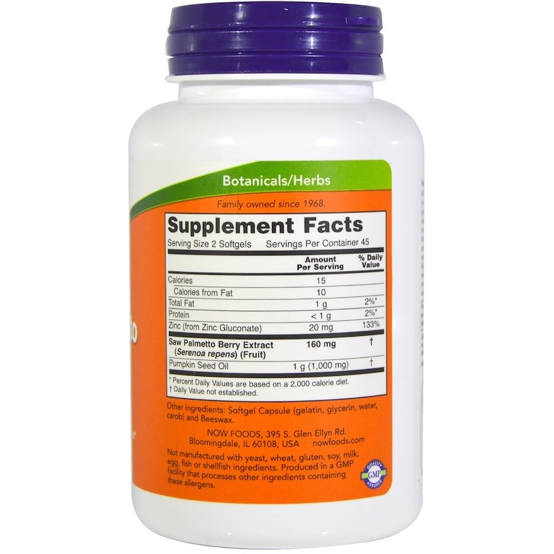 NOW Saw Palmetto Extract 80mg