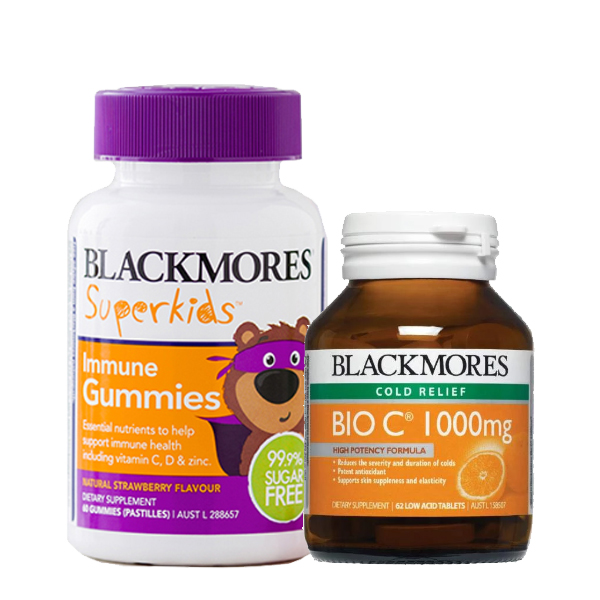 Blackmores Bio C 1000mg + Superkids Immune Gummies Combo