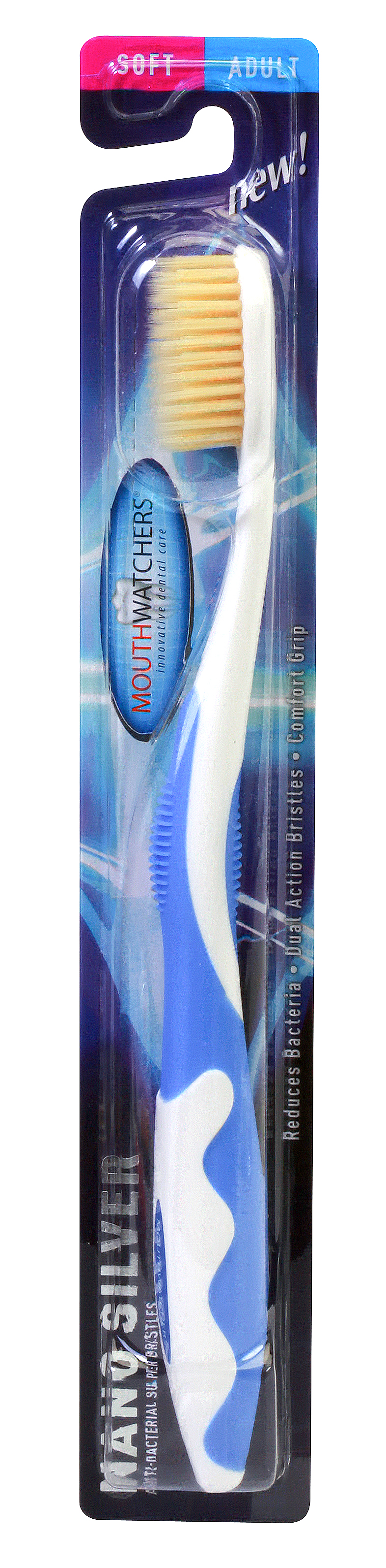 Mouth Watchers Toothbrush Adult NANO SILVER