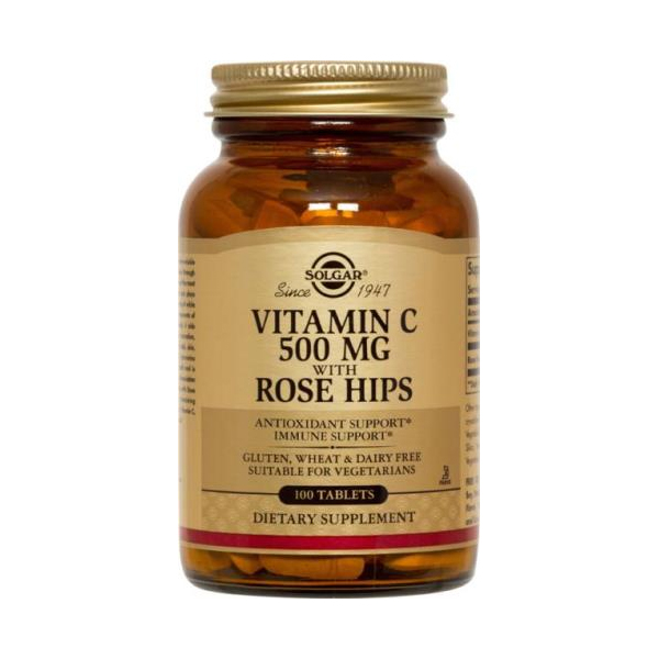 Solgar Vitamin C with Rosehips 500mg