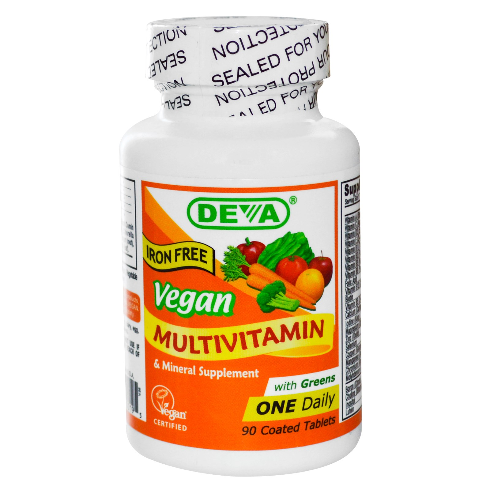 Buy Deva Multivitamin Amp Mineral Supplement Vegan Iron