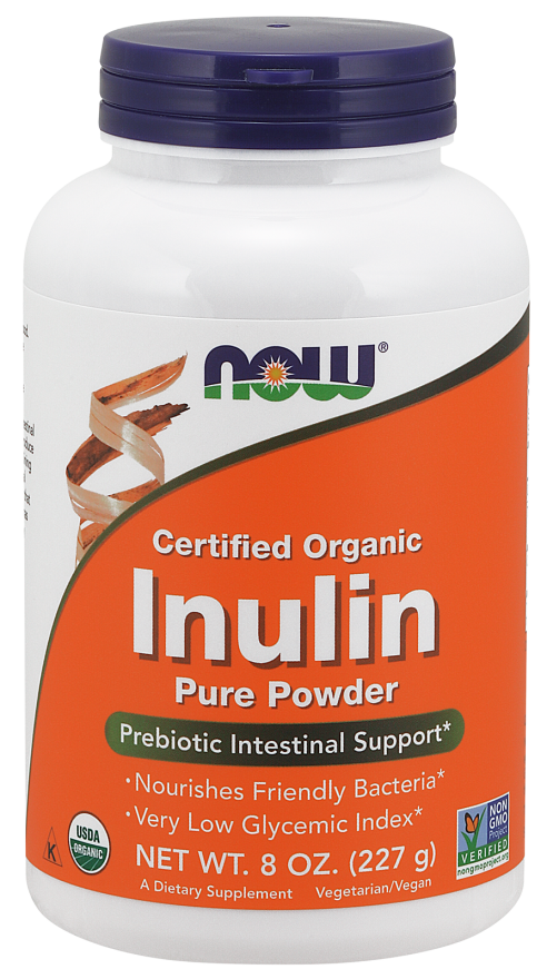 Now Certified Organic Inulin Pure Powder