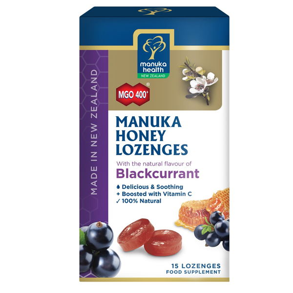 Manuka Health Manuka Honey Lozenges - Blackcurrant
