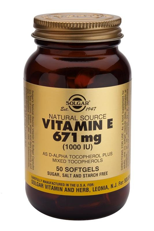 Solgar Vitamin E 1000iu (Softgels)