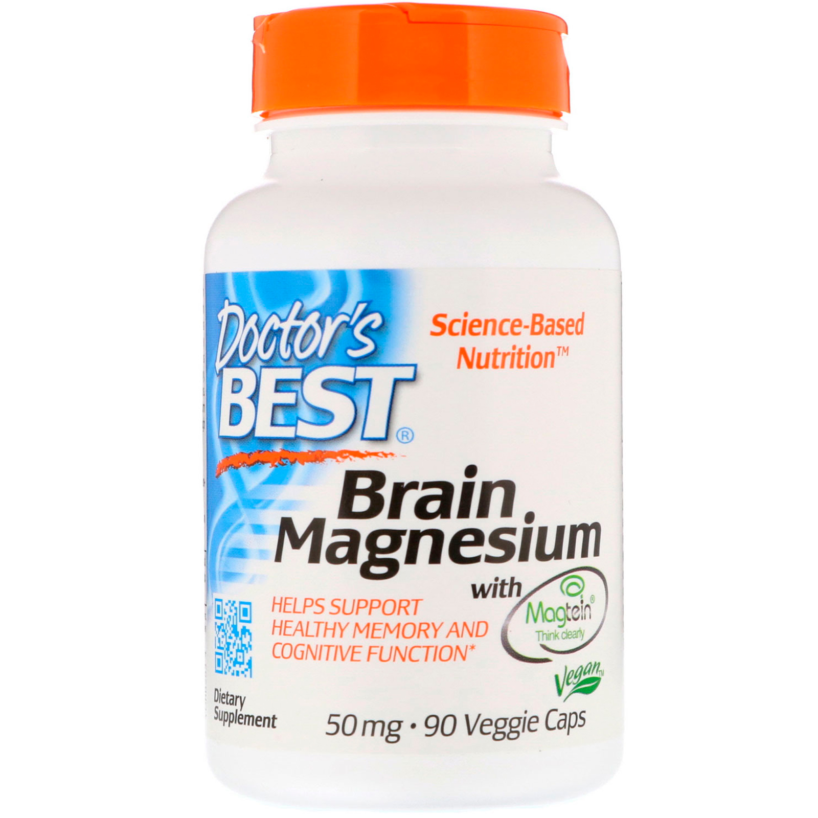 Doctor\'s Best - Brain Magnesium with Magtein™  50 mg