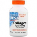 Doctor's Best - Collagen Types 1 & 3 1000mg with Vitamin C