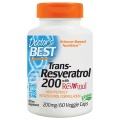 Doctor's Best Trans-Resveratrol 200 with ResVinol-25 200mg
