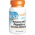 Doctor's Best - Betaine HCl Pepsin & Gentian Bitters